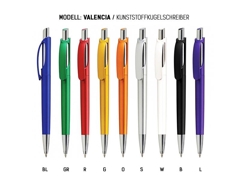 14 Kugelschreiber mit Clip aus Metall 14 verschiedene Farben